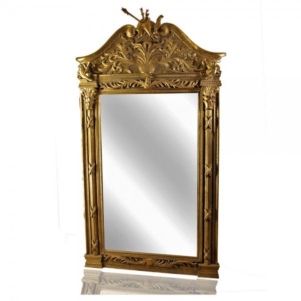 Καθρέφτης Ζαρκάδι χρυσό πατίνα με στάχτη