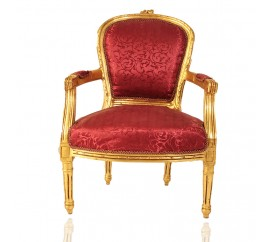Πολυθρόνα χρυσή Λουδοβίκου