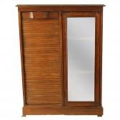 Συρταριέρα διπλή roll-top & βιτρίνα
